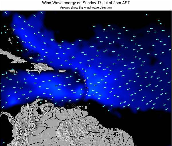 Saint Lucia Wind Wave energy on Monday 25 Sep at 2am AST