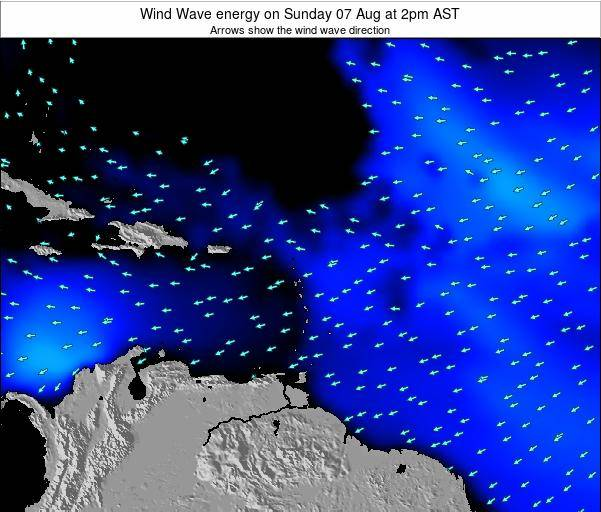 Saint Lucia Wind Wave energy on Monday 21 Apr at 2pm AST