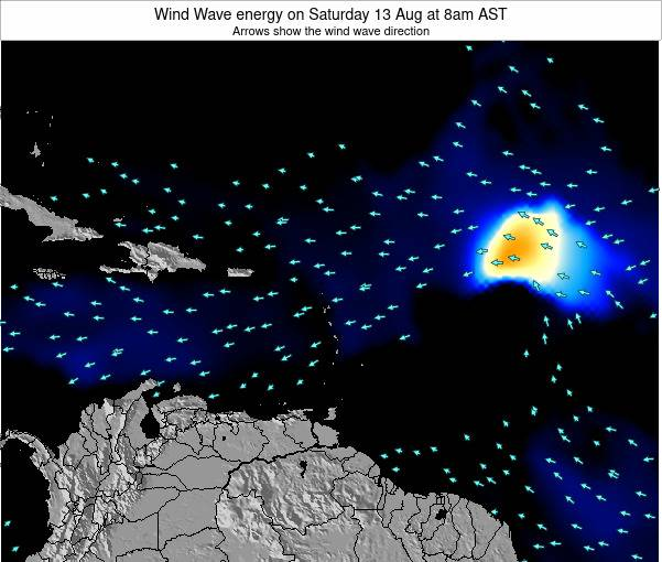 Saint Lucia Wind Wave energy on Saturday 26 Jul at 2pm AST