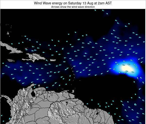 Saint Lucia Wind Wave energy on Sunday 27 Apr at 8am AST