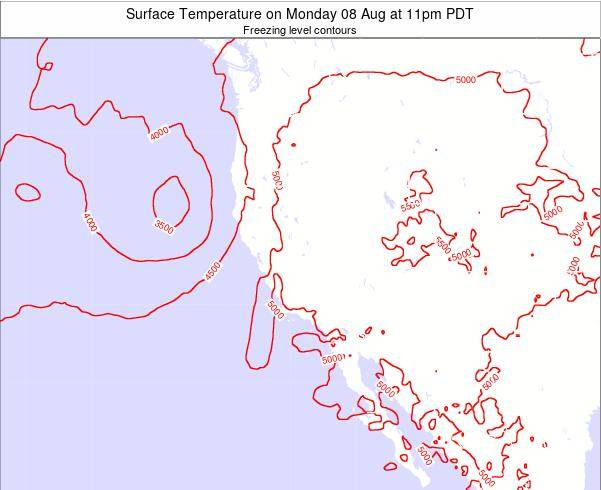 California Surface Temperature on Saturday 26 Jul at 5am PDT