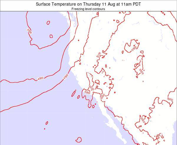 California Surface Temperature on Sunday 26 May at 5pm PDT