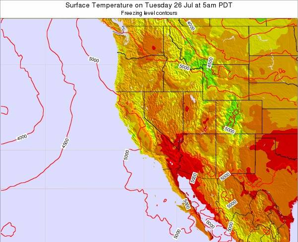Utah Surface Temperature On Thursday 18 Oct At 5am Pdt