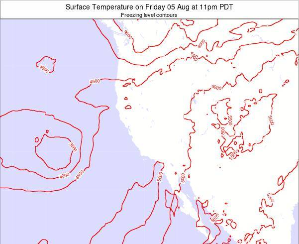 California Surface Temperature on Wednesday 14 Nov at 10am PST map