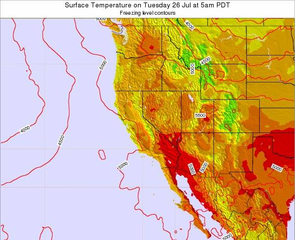 Nevada Surface Temperature On Thursday 30 Aug At 5am Pdt