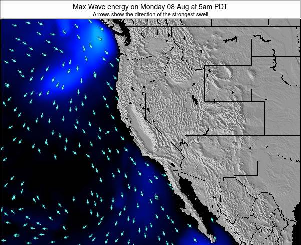 California Max Wave energy on Sunday 19 May at 5am PDT