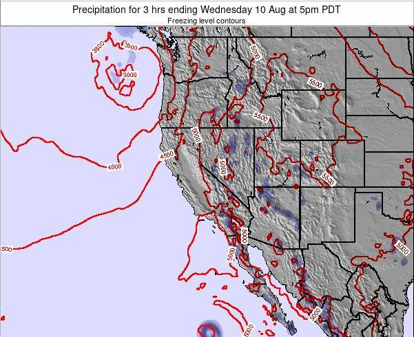 Nevada Precipitation for 3 hrs ending Wednesday 29 May at 5am PDT map