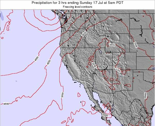 Utah Precipitation for 3 hrs ending Friday 24 May at 5am PDT map