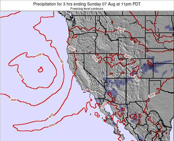 California Precipitation for 3 hrs ending Monday 24 Jun at 11am PDT
