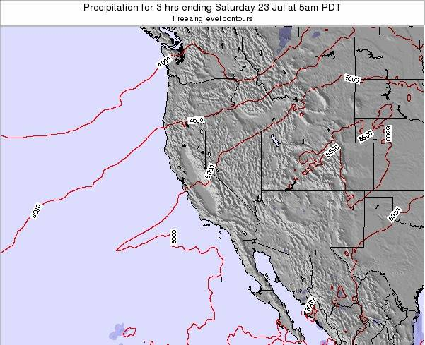 Utah Precipitation for 3 hrs ending Saturday 25 May at 5am PDT map