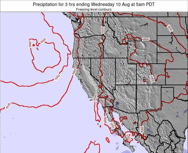 Utah Precipitation for 3 hrs ending Sunday 26 May at 11pm PDT map