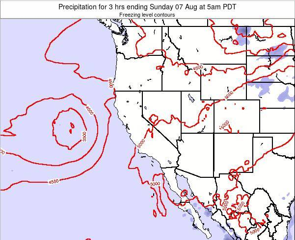 Nevada Precipitation for 3 hrs ending Friday 24 May at 5pm PDT map