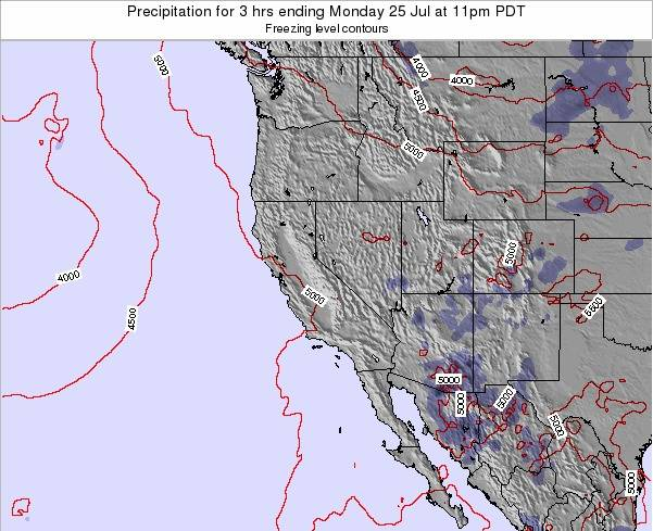 Utah Precipitation for 3 hrs ending Friday 21 Jun at 11am PDT map