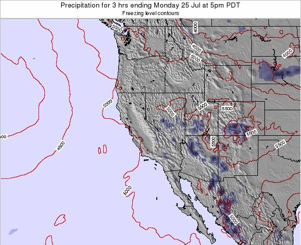California Precipitation for 3 hrs ending Sunday 26 May at 11pm PDT