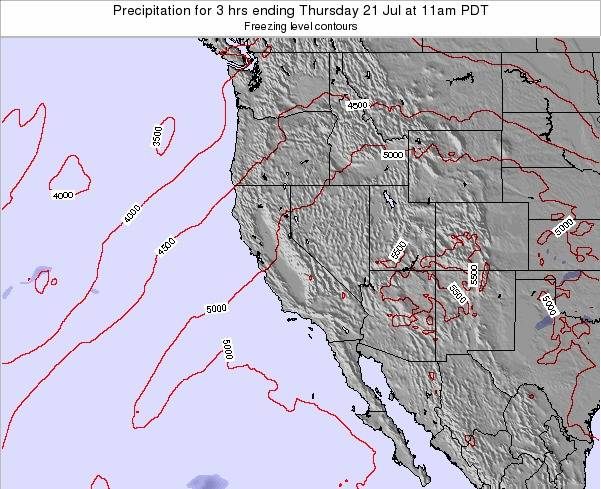 California Precipitation for 3 hrs ending Saturday 22 Sep at 11am PDT map