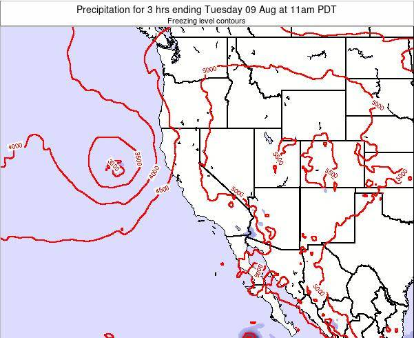 Nevada Precipitation for 3 hrs ending Friday 24 May at 5am PDT map