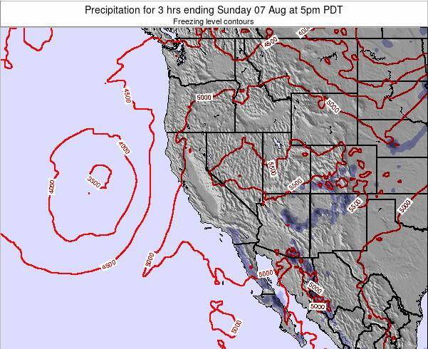 Utah Precipitation for 3 hrs ending Tuesday 21 May at 11pm PDT map