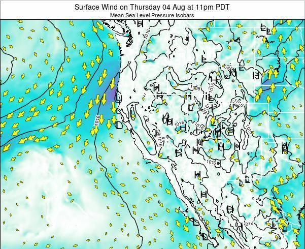 Utah Surface Wind on Friday 24 May at 11pm PDT map