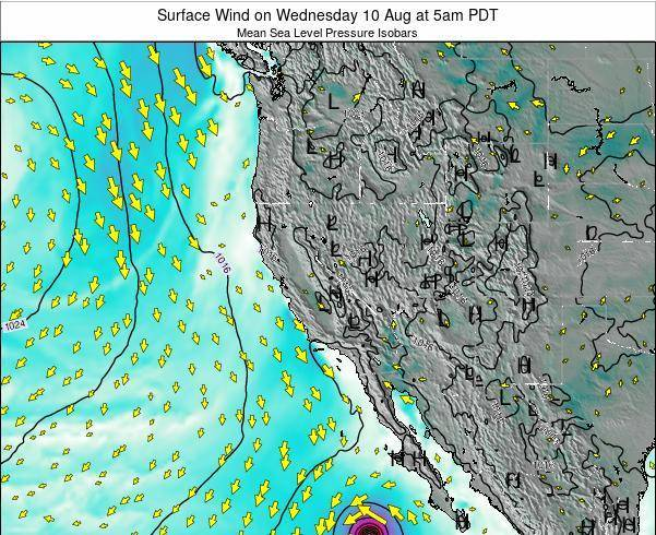 Utah Surface Wind on Thursday 30 May at 5am PDT map
