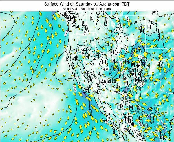 Utah Surface Wind on Friday 24 May at 5pm PDT map
