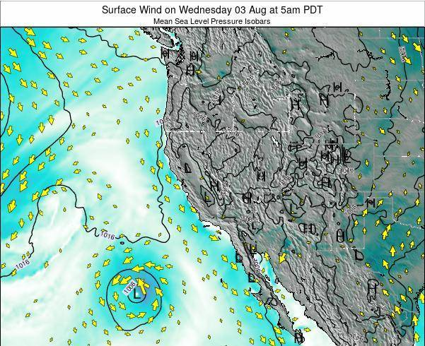 California Surface Wind on Monday 20 May at 11pm PDT