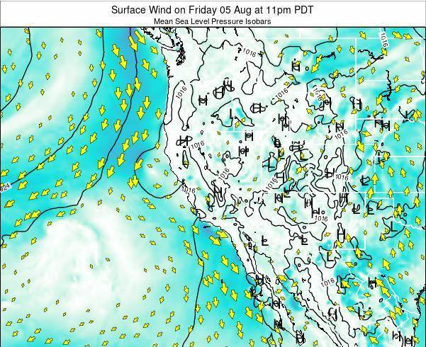 Utah Surface Wind On Tuesday 28 Aug At 5pm Pdt
