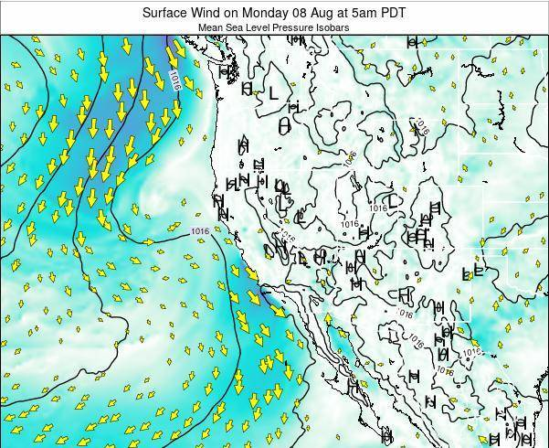 Utah Surface Wind on Monday 27 May at 5am PDT map