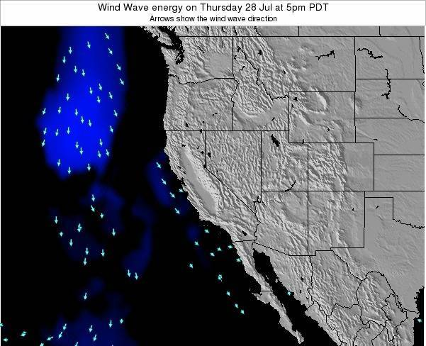 California Wind Wave energy on Monday 28 Apr at 11am PDT