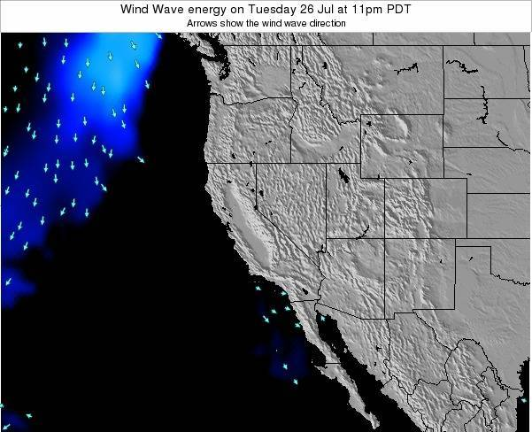 California Wind Wave energy on Tuesday 28 May at 11am PDT