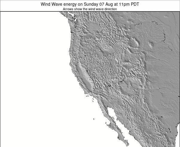 California Wind Wave energy on Friday 06 May at 11pm PDT