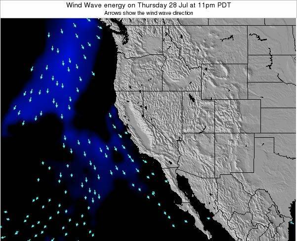 California Wind Wave energy on Wednesday 11 Dec at 10am PST