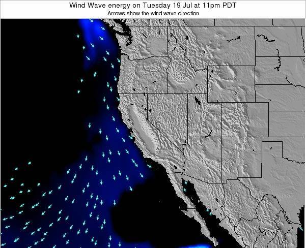 California Wind Wave energy on Thursday 13 Mar at 11am PDT