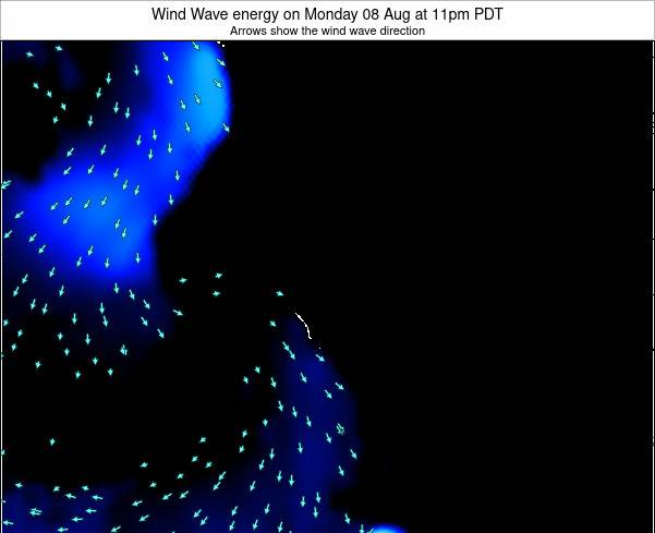 California Wind Wave energy on Sunday 19 May at 11pm PDT