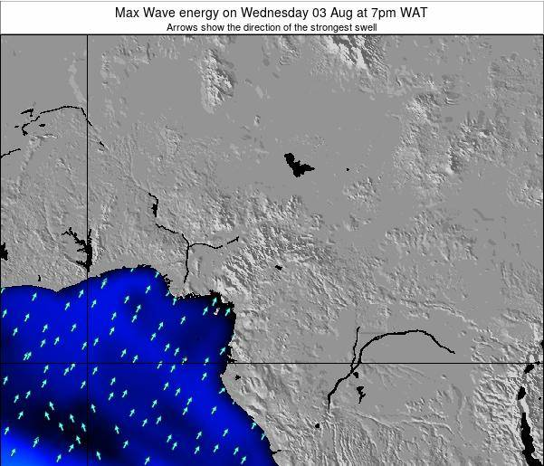 Cameroon Max Wave energy on Saturday 02 Aug at 7am WAT