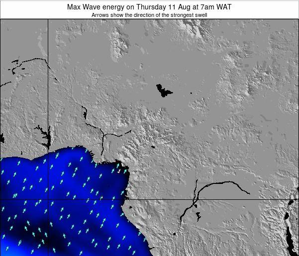 Cameroon Max Wave energy on Thursday 30 Oct at 7am WAT