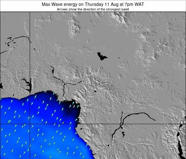 Cameroon Max Wave energy on Tuesday 25 Jun at 7am WAT