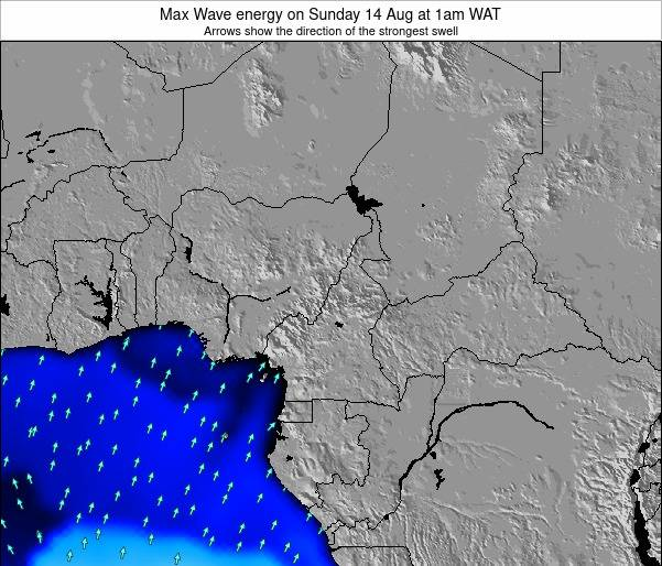 Cameroon Max Wave energy on Monday 03 Apr at 1pm WAT