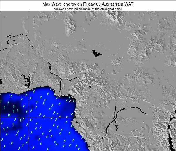 Cameroon Max Wave energy on Friday 22 Sep at 7am WAT