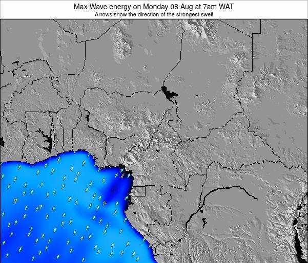 Cameroon Max Wave energy on Wednesday 18 Jan at 1am WAT