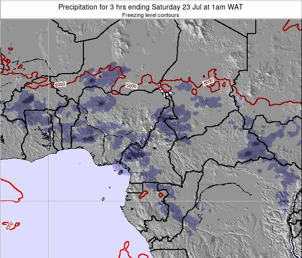 Gabon Precipitation for 3 hrs ending Sunday 26 May at 7am WAT