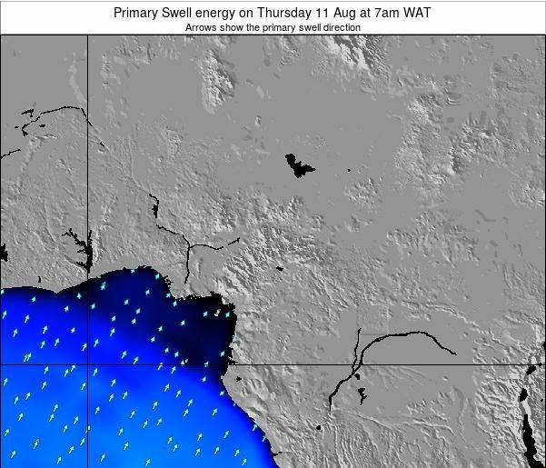 Cameroon Primary Swell energy on Wednesday 29 May at 1am WAT