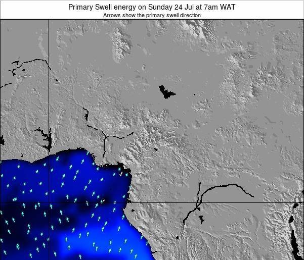 Cameroon Primary Swell energy on Monday 20 May at 7am WAT