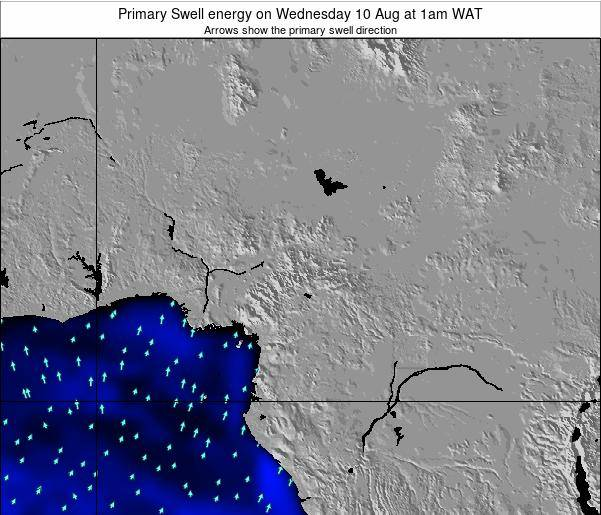 Cameroon Primary Swell energy on Thursday 23 May at 1pm WAT