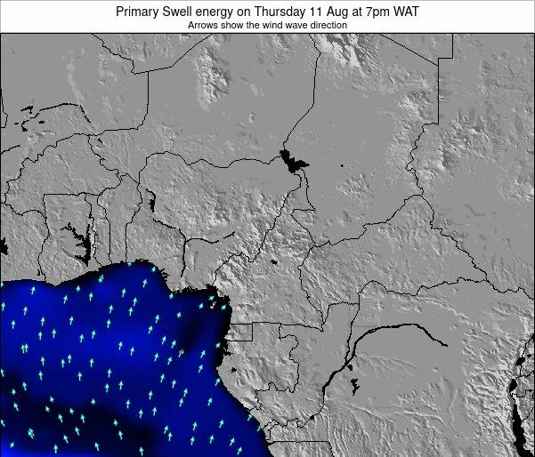 Cameroon Primary Swell energy on Saturday 22 Jun at 7pm WAT