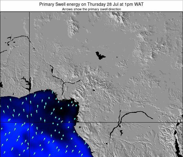 Cameroon Primary Swell energy on Friday 21 Jun at 7pm WAT