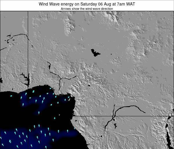 Cameroon Wind Wave energy on Wednesday 23 Jul at 7am WAT