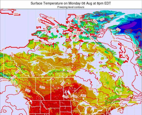Canada Surface Temperature on Tuesday 17 Dec at 1am EST