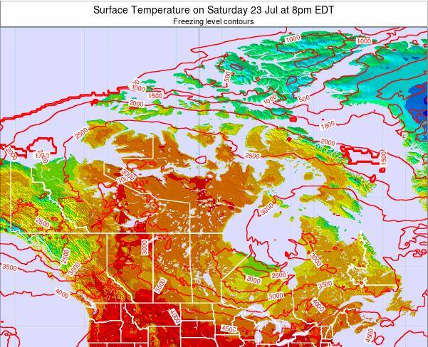 Canada Surface Temperature on Monday 01 Sep at 2am EDT
