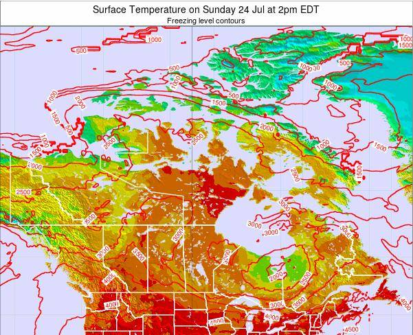 Canada Surface Temperature on Wednesday 31 Aug at 2am EDT