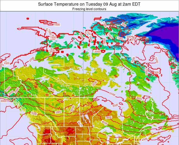 Canada Surface Temperature on Wednesday 30 May at 8pm EDT map